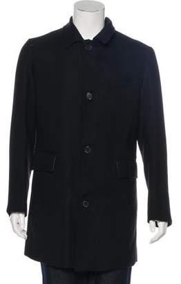 Billy Reid Three-Button Wool Overcoat