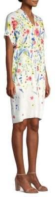 Escada Dixanula Short Sleeve Floral Dress