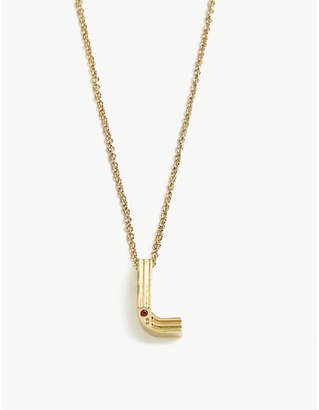 Maje L initial necklace