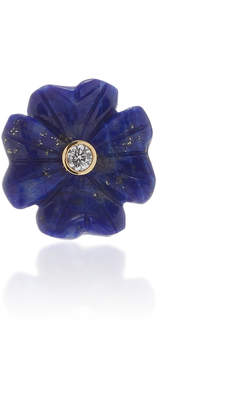 Lapis Brent Neale Single Small Clover Stud Earring