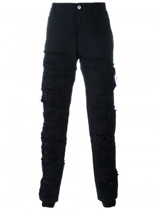 Hood By Air canvas shredded pants $684 thestylecure.com