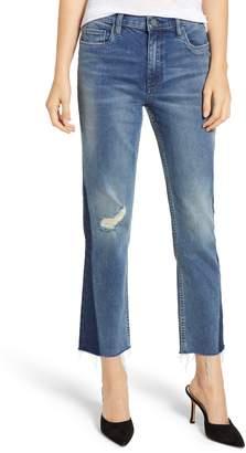 Blank NYC BLANKNYC Inset Hem Crop Straight Leg Jeans
