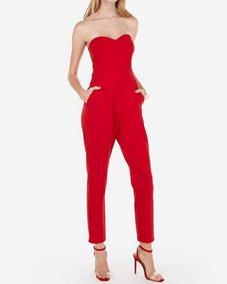 5faa4662eeac Express Strapless Sweetheart Neck Jumpsuit