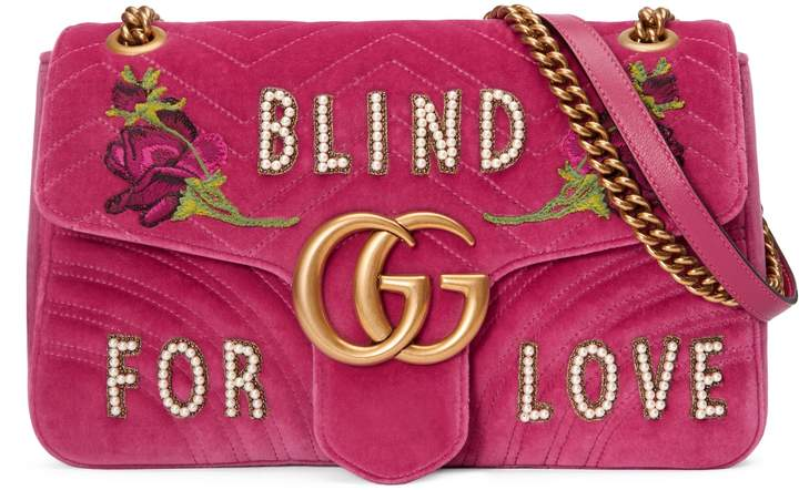 GG Marmont embroidered medium bag