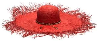Sensi Studio - Hippie Oversized Straw Hat - Womens - Red