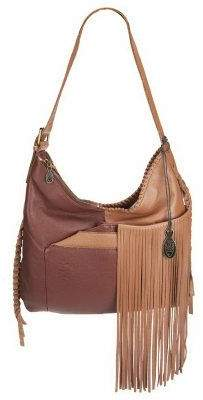 Muxo By Camila Alves Muxo by Camila Alves Leather Square Hobo w/Fringe