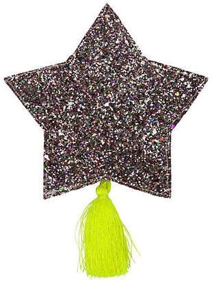 Glitter Star Pouch - Silver/Yellow - Meri Meri
