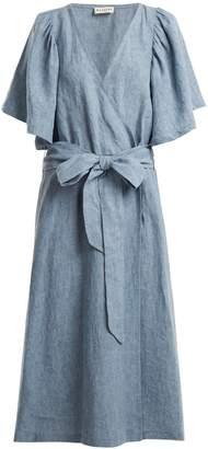 Masscob Wrap-front chambray dress