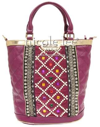 Nicole Lee Megan Check Patterned Quilted Tote Bag