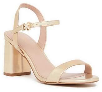 BCBGeneration Becca Metallic Ankle Strap Heeled Sandal