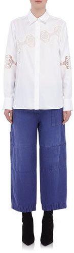 Burberry Burberry Long-Sleeve Shirt w/ Lace