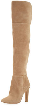Joie Bentlee Suede Over-the-Knee Boot, Gesso $498 thestylecure.com