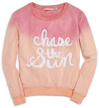 Vintage Havana Girls' Dip-Dyed Chase the Sun Sweatshirt - Big Kid