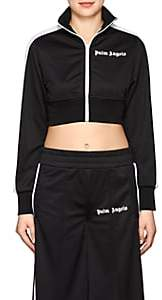 Palm Angels Women's Tech-Jersey Crop Track Jacket - Black