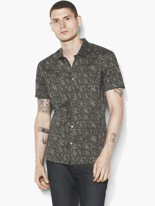 John Varvatos Short Sleeve Poplin Shirt