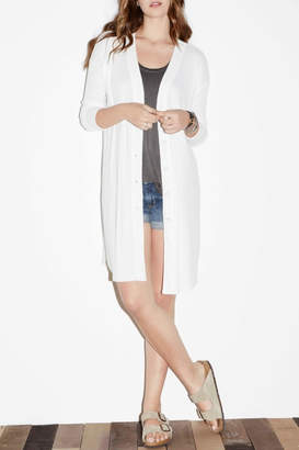 Fifteen-Twenty Fifteen Twenty Long Textured Cardigan