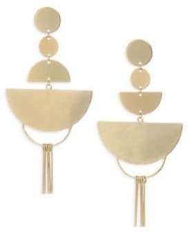 Ettika Gold Flat Geometric Earrings