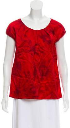 MICHAEL Michael Kors Silk Short Sleeve Blouse