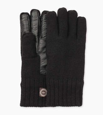UGG Knit Glove With Smart Leather Palm