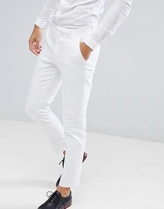 Asos Design DESIGN wedding skinny suit pants in white