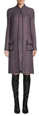 St. John Painterly Sheen Tweed Knit Jacket