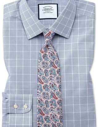 Charles Tyrwhitt Classic fit non-iron Prince of Wales grey shirt