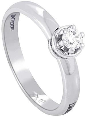 Damiani 18K 0.19 Ct. Tw. Diamond Engagement Ring