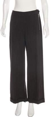 Dries Van Noten Wool-Blend High-Rise Pants