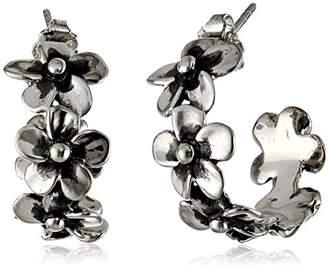"Zina Sterling ""Hibiscus Collection"" Hibiscus Hoop Earrings"