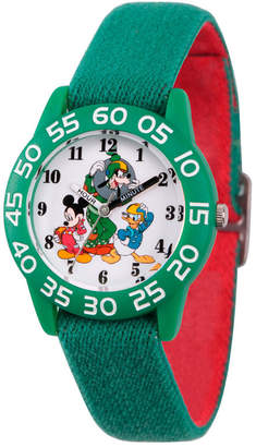 DISNEY MICKEY MOUSE Disney Mickey Mouse Boys Green Strap Watch-Wds000219