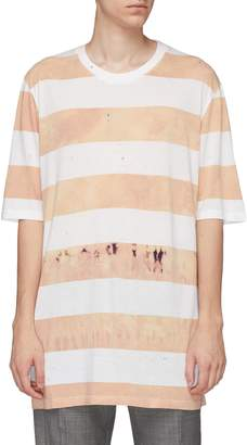 Faith Connexion Stripe bleach effect T-shirt