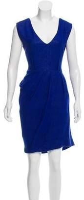 Lela Rose Wool-Blend Dress