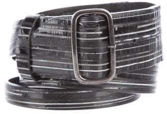 Zero Maria Cornejo Patterned Buckle Belt