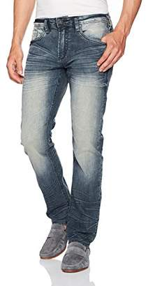 Buffalo David Bitton Men's Evan-x Slim Straight Leg Stretch Denim Fashion Jean