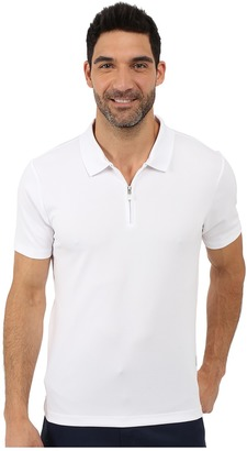 Perry Ellis Solid Polo with Zipper Closure $24.99 thestylecure.com