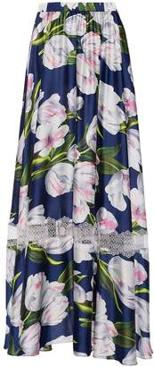 Nissa - Maxi Skirt With Tulip Print