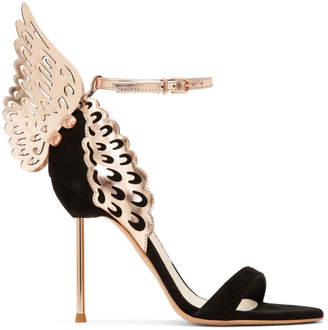 Sophia Webster Black Evangeline Sandals
