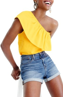 Women's J.crew One-Shoulder Top $52.50 thestylecure.com