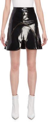 Ellery Black Pantent Faux Leather Mini Skirt