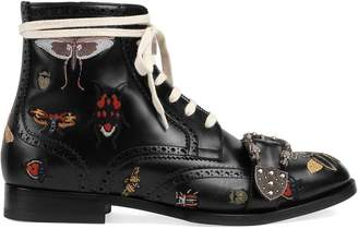 Gucci Queercore embroidered brogue boots