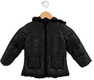 Lili Gaufrette Girls' Ruffled Down Jacket