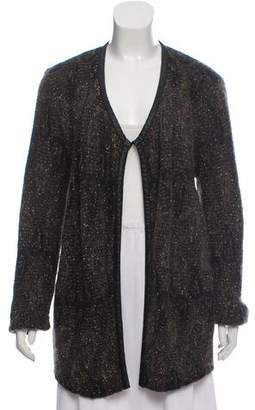 Eileen Fisher Brocade Open Front Cardigan