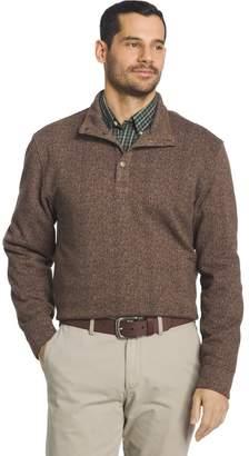 Arrow Big & Tall Classic-Fit Herringbone Mockneck Fleece Sweater