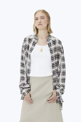 CONTEMPORARY Oversized Plaid Button-Down