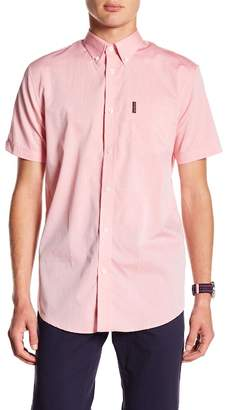 Ben Sherman Dot Dobby Short Sleeve Regular Fit Shirt