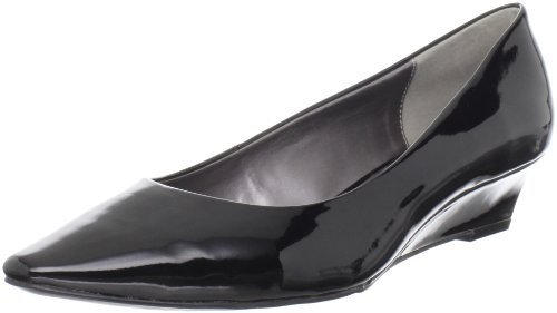 Adrienne Vittadini Footwear Women's Prince Wedge Pump,Black,7.5 M US