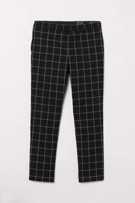 H&M Skinny Fit Checked Pants - Black