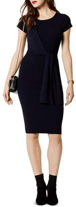 Karen Millen Tie-Front Rib-Knit Dress