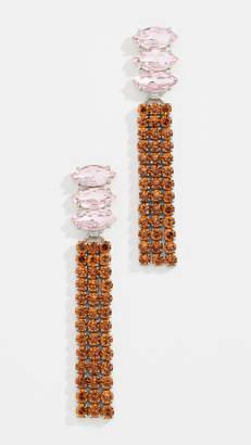 For Love & Lemons Fiona Crystal Earrings