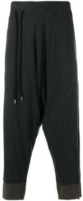 The Viridi-anne drop-crotch layer trousers
